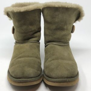 UGG Bailey Button Short Sherpa Lined Short Boots